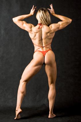 Frau aus dem Bodybuilding